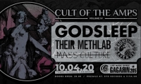CULT OF THE AMPS vol. IV w/ GODSLEEP + THEIR METHLAB, BOMBING THE AVENUE & MASS CULTURE - Παρασκευή 10 Απριλίου, Gagarin 205 - ΑΝΑΒΟΛΗ